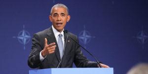 Barack Obama, prezydent Stanów Zjednoczonych, na szczycie NATO w Warszawie.