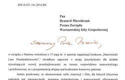 """Honorowy patronat Wojewody Mazowieckiego nad konkursem """"Mazowiecki Laur Przedsiębiorczości"""""""