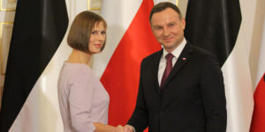 Kersti Kaljulaid, prezydent Estonii i Andrzej Duda, prezydent RP.