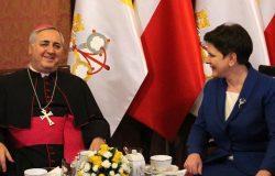 Spotkanie premier z nuncjuszem apostolskim w Polsce