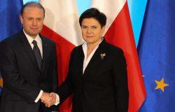 Spotkanie premierów Polski i Malty
