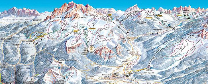 VAL DI FIEMME – TRENTINO: Położenie i warunki narciarskie