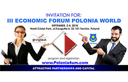 Forum Gospodarcze Polonii Świata - Tarnów, 3-4 września 2018