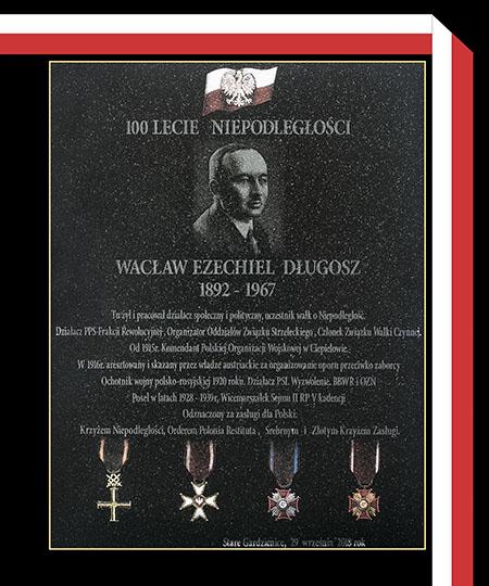Tablica ufundowana przez potomków rodziny Długoszów