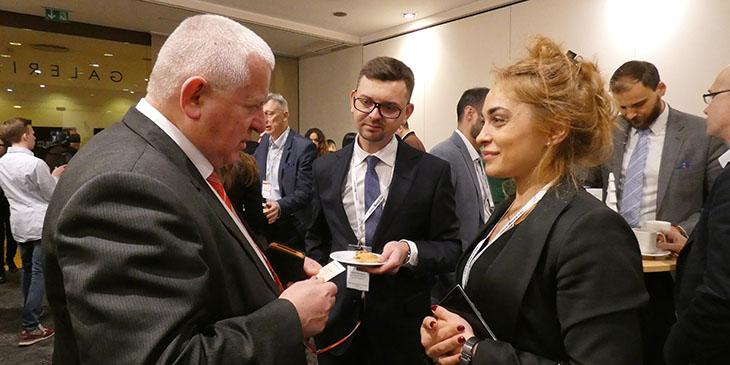Marek Traczyk, prezes WIG, w rozmowie z Nutshą Abramishvili, CEO Schuchmann Group