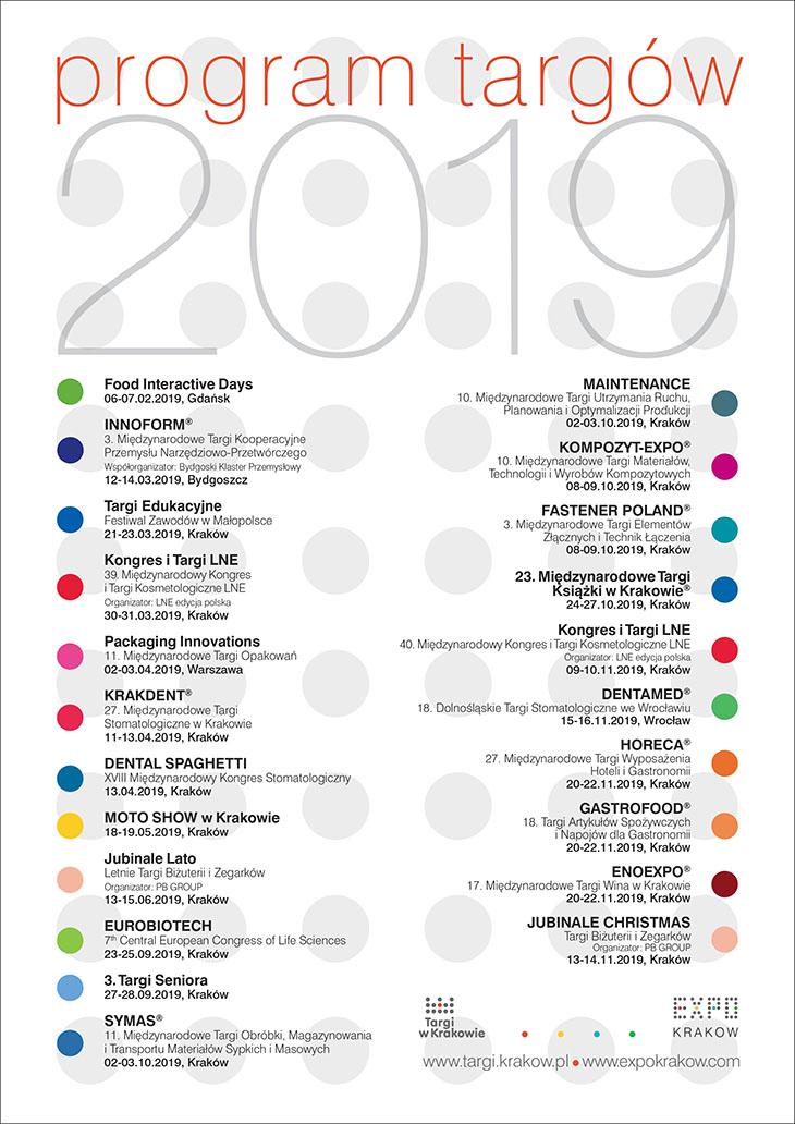 Targi w Krakowie - program targów 2019