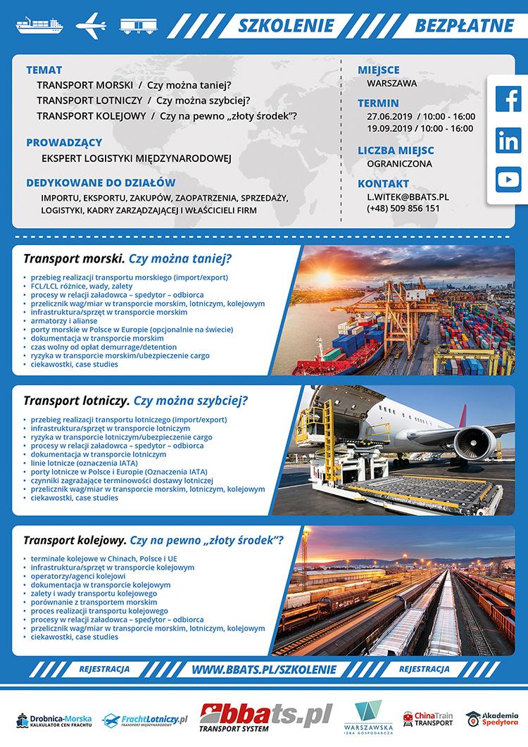 Bezpłatne szkolenie BBA Transport System