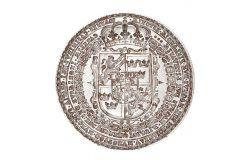 Srebrny tłok pieczęci kancelaryjnej szwedzkiej Jana Kazimierza Wazy