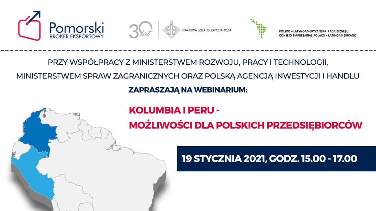 Kolumbia i Peru - możliwości dla polskich przedsiębiorców