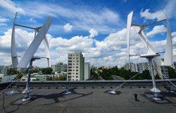 Turbiny wiatrowe na dachu ratusza Ursynowa