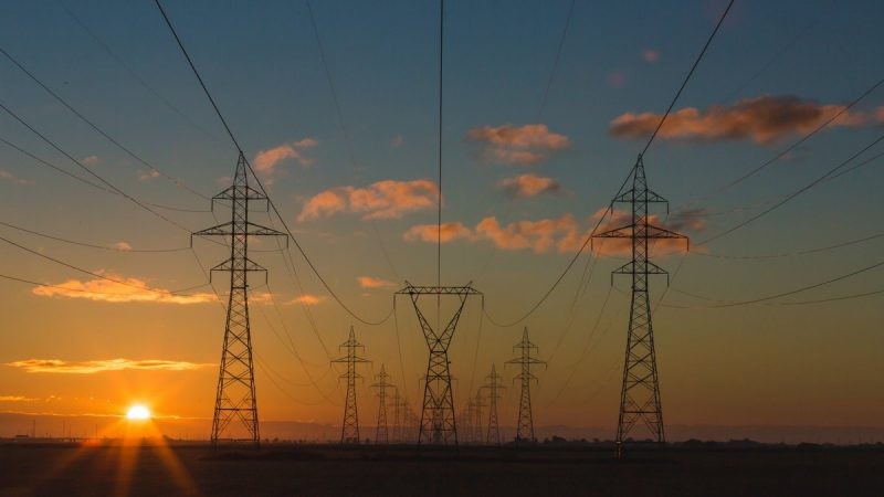 linie sieci elektrycznej